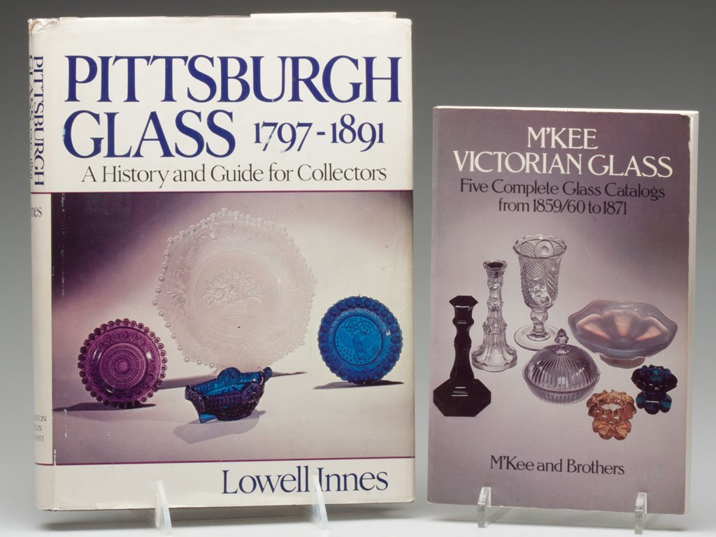9: PITTSBURGH GLASS REFERENCE VOLUMES, LOT OF TWO