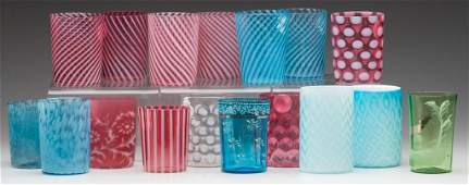 1040: VICTORIAN GLASS TUMBLERS, LOT OF 17