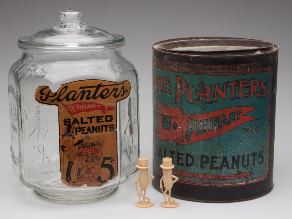 PLANTERS PEANUT ADVERTISING ITEMS, LOT OF FOUR