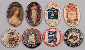 ASSORTED ADVERTISING POCKET MIRRORS LOT OF EIGHT