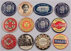 ASSORTED ADVERTISING POCKET MIRRORS LOT OF 12