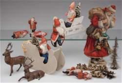 GERMAN CHRISTMAS DECORATIONS, LOT OF 15