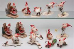 ASSORTED CHRISTMAS DECORATIONS, LOT OF 14