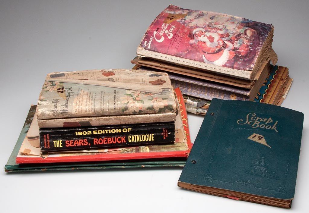 MARY BUCK'S SCRAP BOOKS, LOT OF NINE