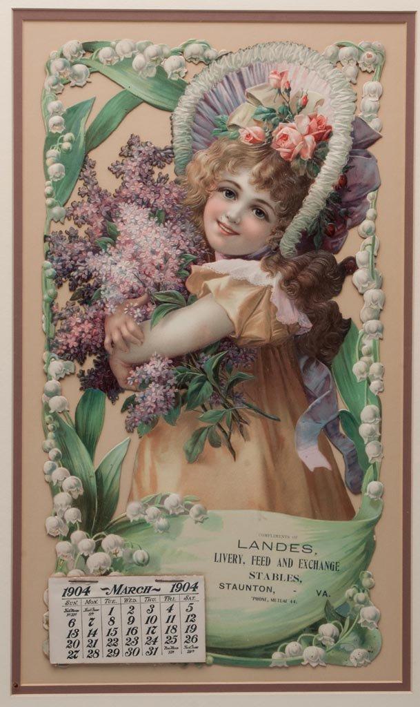 STAUNTON, VIRGINIA 1904 CALENDAR