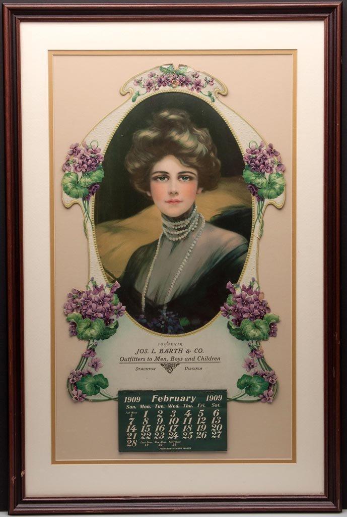 STAUNTON, VIRGINIA 1909 CALENDAR