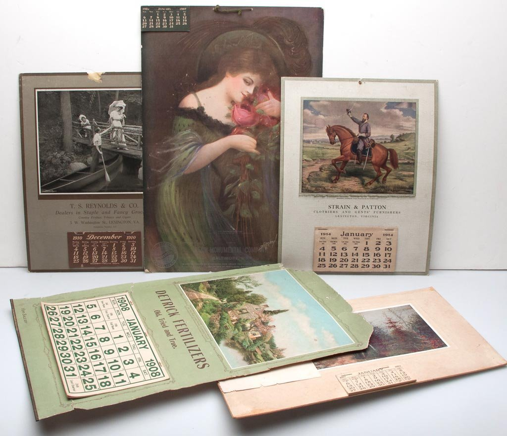 ASSORTED ADVERTISING CALENDARS, LOT OF FIVE