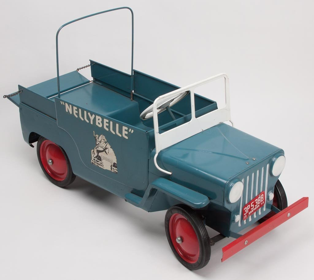 """ROY ROGERS """"NELLYBELLE"""" PRESSED STEEL PEDAL CAR"""