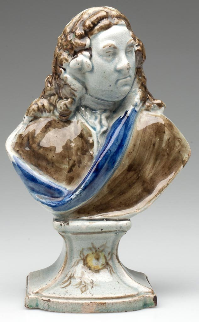 ENGLISH STAFFORDSHIRE PEARLWARE BUST OF HANDEL BY RALPH