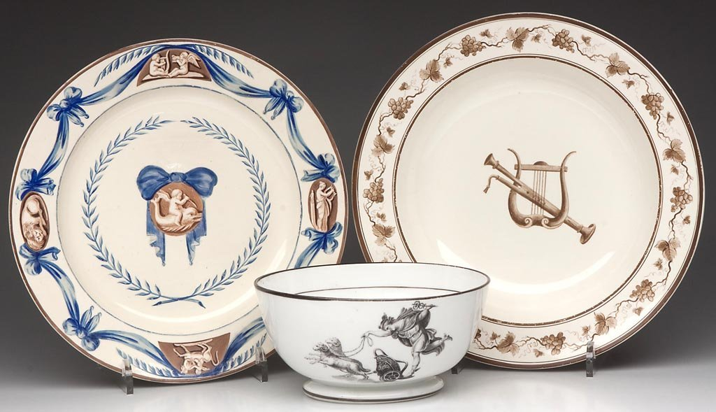 ENGLISH POTTERY AND PORCELAIN NEO-CLASSICAL ARTICLES, L