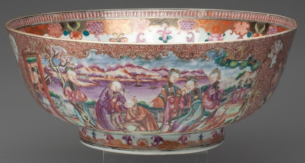 """CHINESE EXPORT PORCELAIN CELL-AND DIAPER-GROUND """"MANDAR"""