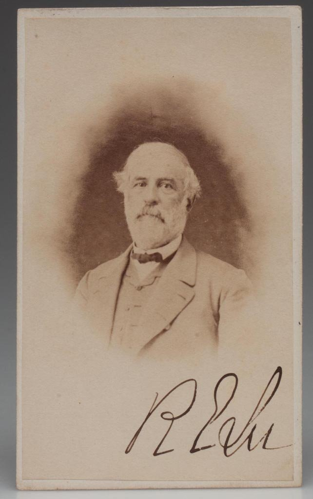 IMPORTANT UNPUBLISHED AUTOGRAPHED ROBERT E. LEE CDV PHO