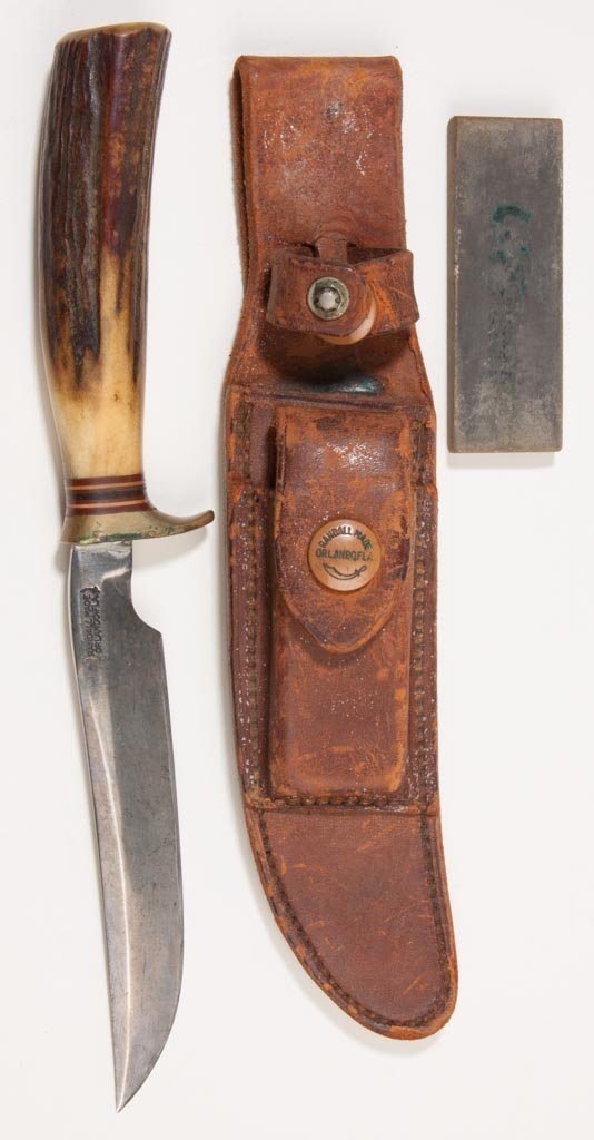 RANDALL MADE MODEL 7 STAG HANDLE HUNTING KNIFE