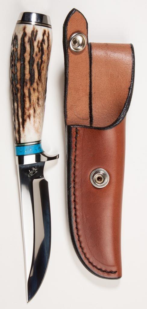 ROB HUDSON STAG HANDLE SKINNER / HUNTING KNIFE