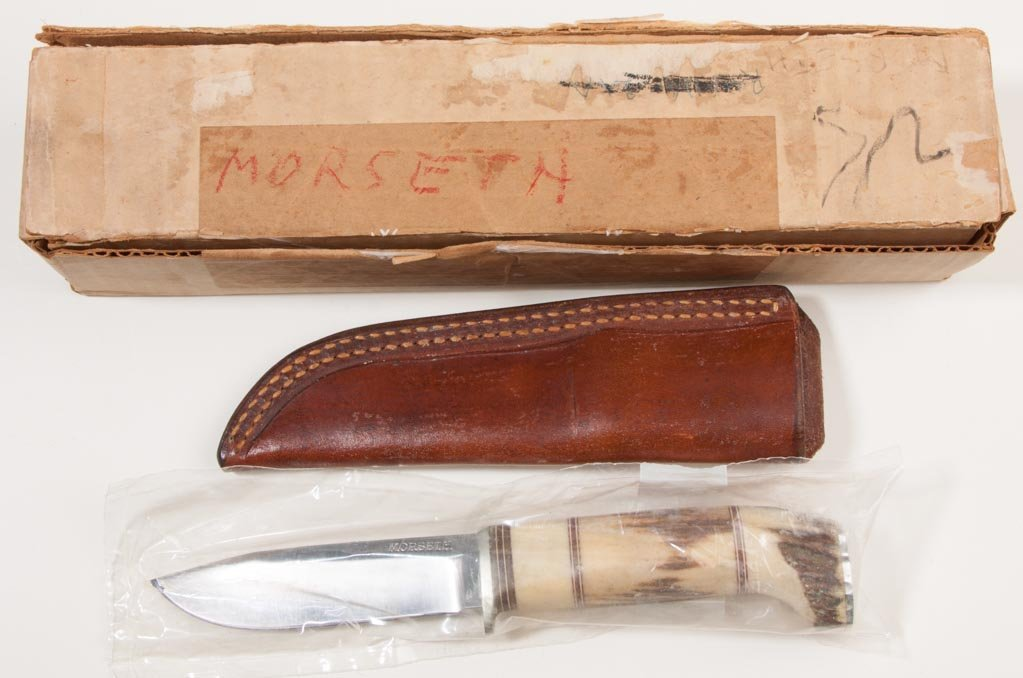 MORSETH STAG HANDLE HUNTING KNIFE