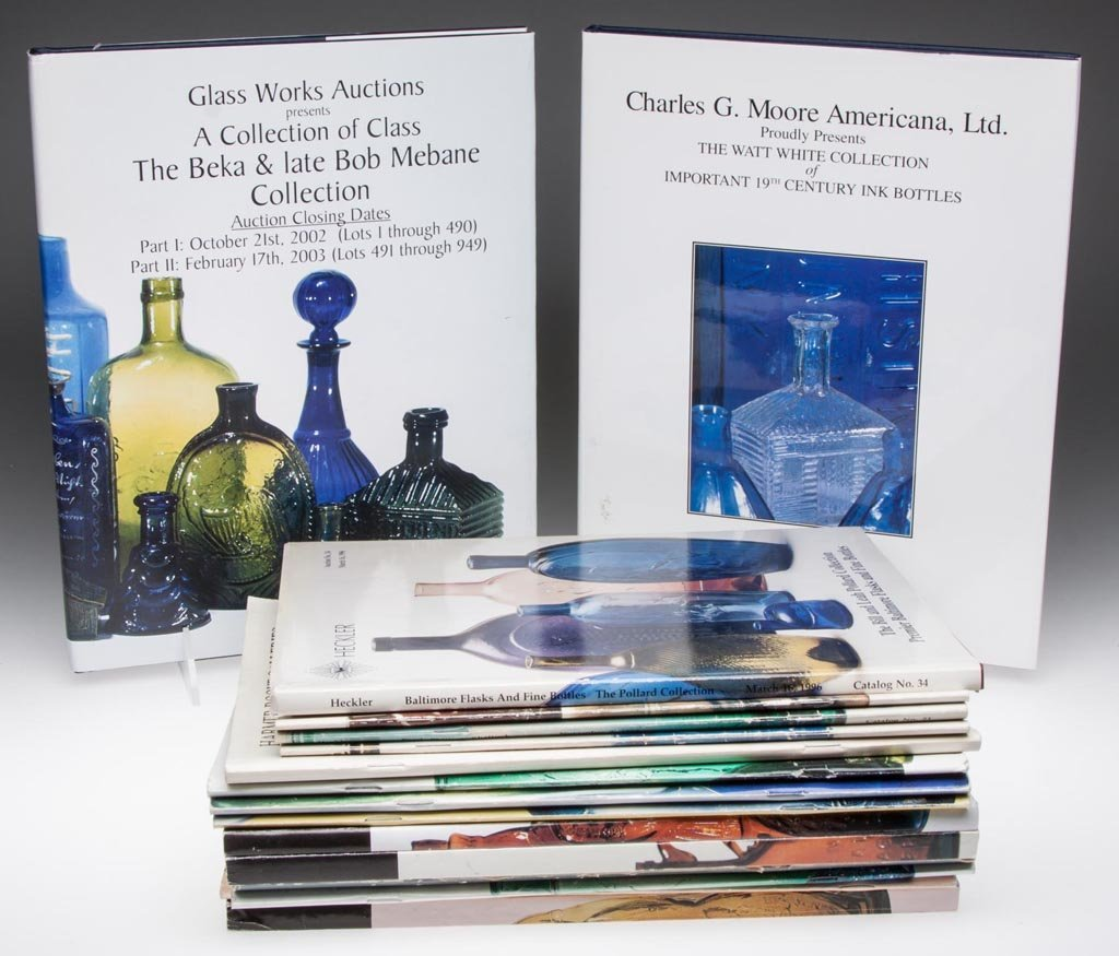 BOTTLES AND FLASKS AUCTION CATALOGUES, LOT OF 17