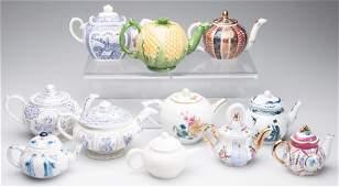 ENGLISH STAFFORDSHIRE AND ASIAN PORCELAIN MINIATURE TEA