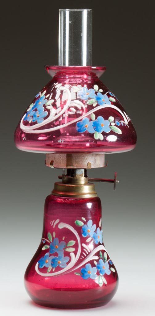 FLORAL DECORATED MINIATURE LAMP
