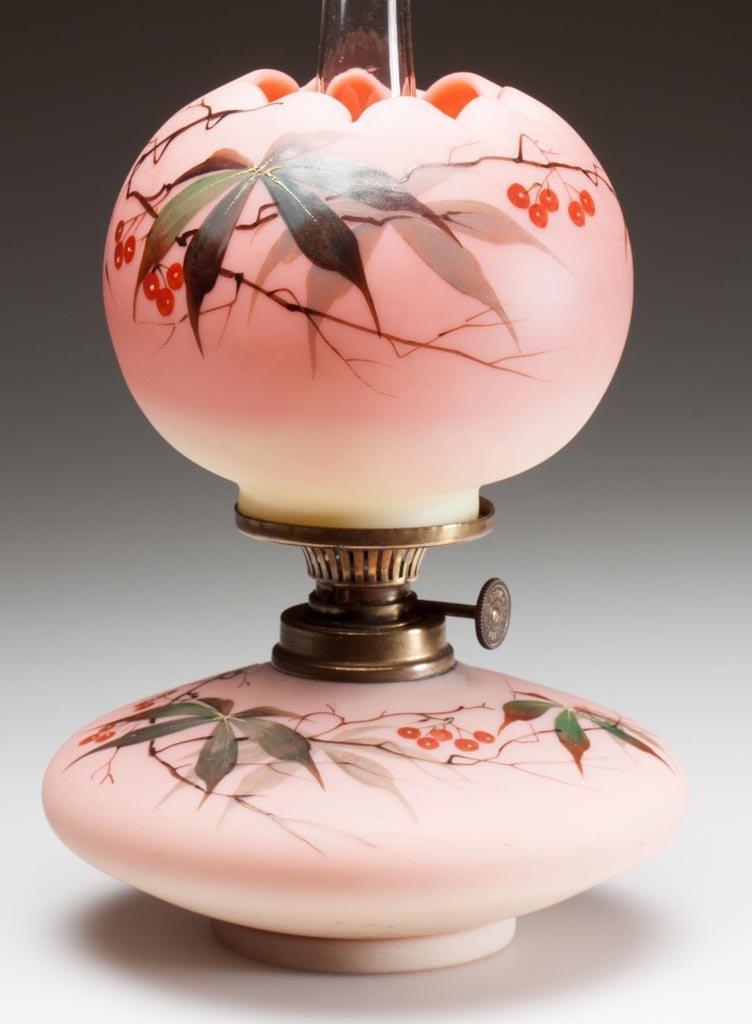 SIGNED WEBB DECORATED BURMESE MINIATURE LAMP