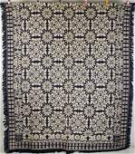 PENNSYLVANIA SIGNED AND DATED 1845 JACQUARD COVERLET