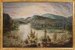 J. G. HOUGH (AMERICAN, 19TH CENTURY) LANDSCAPE PAINTING