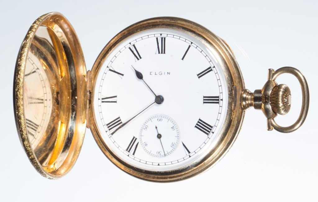 ELGIN 14K GOLD CASE POCKET WATCH