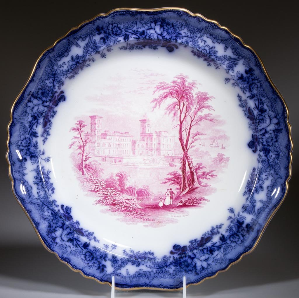 STAFFORDSHIRE TWO-COLOR SCENIC PRINTED TRANSFERWARE