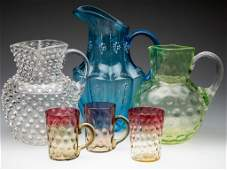 ASSORTED VICTORIAN GLASS ARTICLES, LOT OF SIX