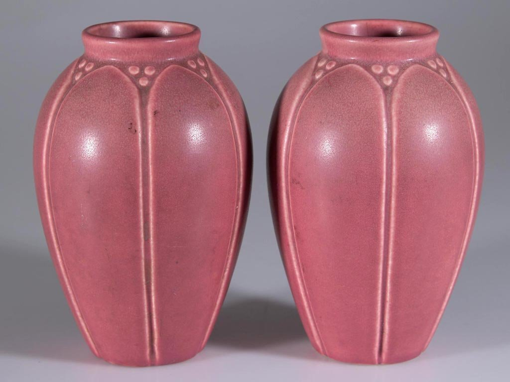 ROOKWOOD ART POTTERY PAIR OF VASES