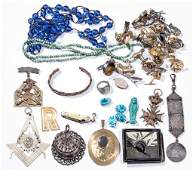 ASSORTED COSTUME JEWELRY AND RELATED ARTICLES