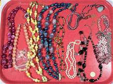 ASSORTED VINTAGE COSTUME JEWELRY LOT OF 14 PIECES