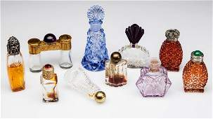ASSORTED VINTAGE MINIATURE PERFUME BOTTLES, LOT OF TEN