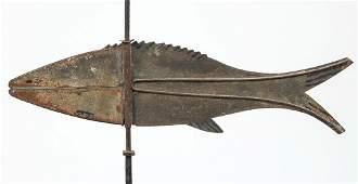 AMERICAN FOLK ART CUT-OUT SHEET-IRON FISH WEATHERVANE
