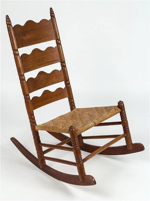 Phenomenal Loudoun Co Virginia Ladder Back Rocking Chair Gmtry Best Dining Table And Chair Ideas Images Gmtryco