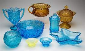 ASSORTED EAPG AND OTHER GLASS ARTICLES LOT OF TEN
