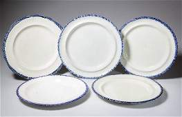 ENGLISH STAFFORDSHIRE AND WELSH POTTERY PLATES, LOT OF