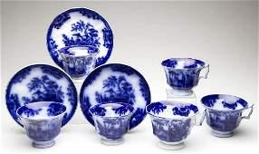 "DAVENPORT IRONSTONE POTTERY FLOW BLUE ""AMOY"" PATTERN"