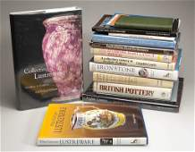 ENGLISH CERAMICS REFERENCE VOLUMES, LOT OF 15