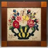 LOUDOUN CO., VIRGINIA FOLK ART APPLIQUE FABRIC THEOREM