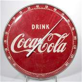 DRINK COCACOLA ADVERTISING ROUND THERMOMETER