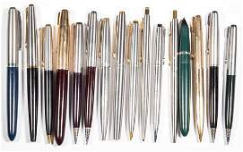 ASSORTED PARKER FOUNTAIN PENS AND MECHANICAL PENCILS