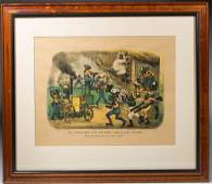 CURRIER AND IVES BLACK AMERICANA PRINT