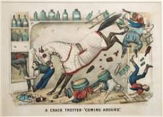 CURRIER AND IVES RACING PRINT