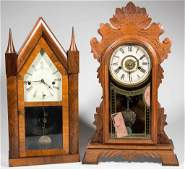 AMERICAN MANTLE CLOCKS LOT OF TWO