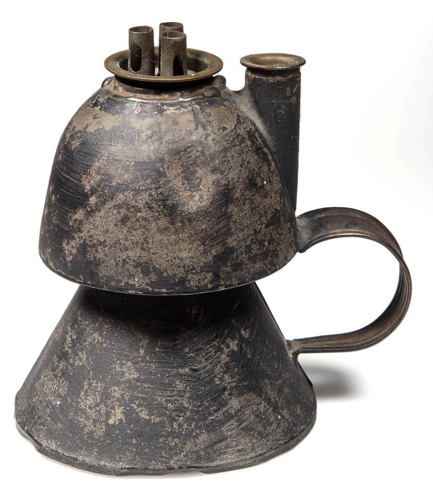 SHEET-IRON WHALE OIL FINGER LAMP