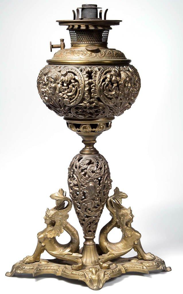 FIGURAL CAST SPELTER LAMP BASE