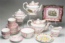 ENGLISH STAFFORDSHIRE POTTERY ASSORTED TEAWARE