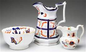 ENGLISH STAFFORDSHIRE PORCELAIN AND POTTERY GAUDY WELSH