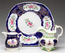 ENGLISH STAFFORDSHIRE PORCELAIN GAUDY WELSH TABLE