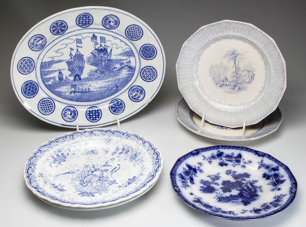 ASSORTED ENGLISH STAFFORDSHIRE AND ASIAN IRONSTONE